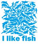 お魚いっぱい。I like fish
