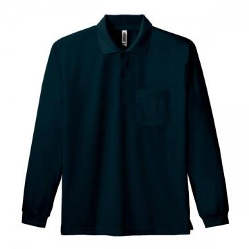 ドライ長袖ポロシャツ005.ブラック