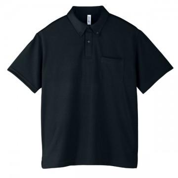 ドライボタンダウンポロシャツ005.ブラック