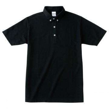 ボタンダウンポロシャツ005.ブラック