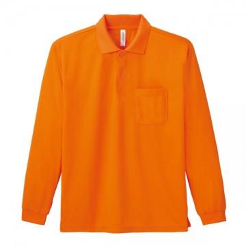 ドライ長袖ポロシャツ015.オレンジ