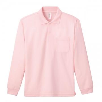 ドライ長袖ポロシャツ132.ライトピンク
