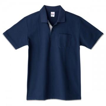 ベーシックレイヤードポロシャツ615.ネイビー×グレー