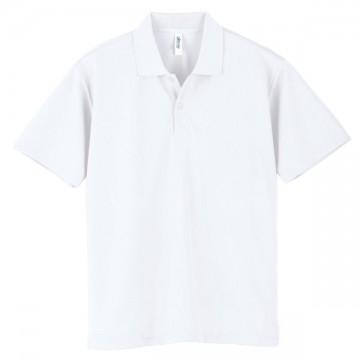 ドライポロシャツ001.ホワイト