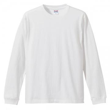 ロングスリーブTシャツ(袖口リブ仕様)001.ホワイト