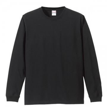 ロングスリーブTシャツ(袖口リブ仕様)002.ブラック