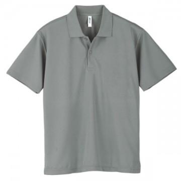 ドライポロシャツ002.グレー