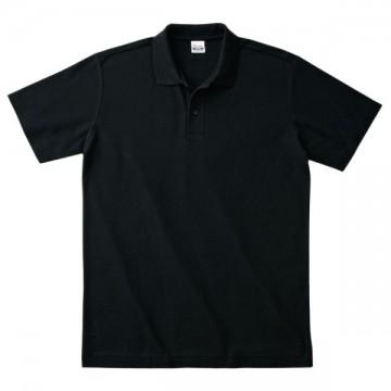 カジュアルポロシャツ005.ブラック
