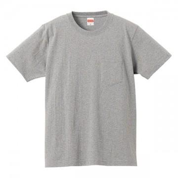 スーパーヘビーウェイトTシャツ(ポケット付)006.ミックスグレー