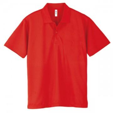 ドライポロシャツ010.レッド