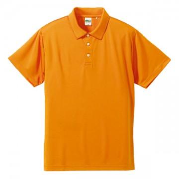 ドライシルキータッチポロシャツ064.オレンジ