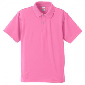 ドライアスレチックポロシャツ066.ピンク
