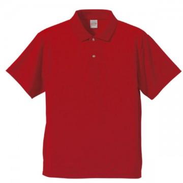 ドライアスレチックポロシャツ069.レッド