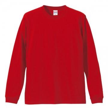 ロングスリーブTシャツ(袖口リブ仕様)069.レッド