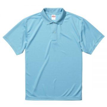 ドライアスレチックポロシャツ083.アクアブルー