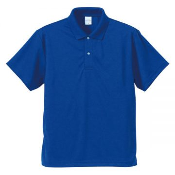 ドライアスレチックポロシャツ084.コバルトブルー