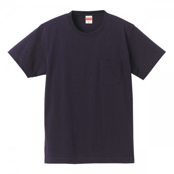 スーパーヘビーウェイトTシャツ(ポケット付)086.ネイビー