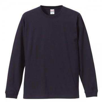 ロングスリーブTシャツ(袖口リブ仕様)086.ネイビー