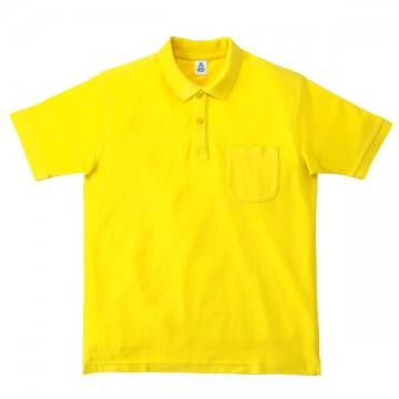 ポケット付鹿の子ドライポロシャツ10.イエロー