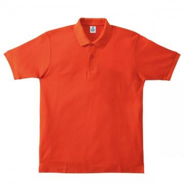 鹿の子ドライポロシャツ13.オレンジ