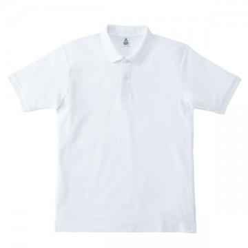 鹿の子ドライポロシャツ15.ホワイト