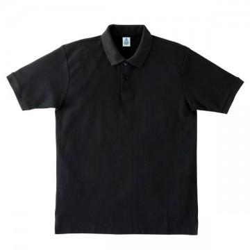 鹿の子ドライポロシャツ16.ブラック