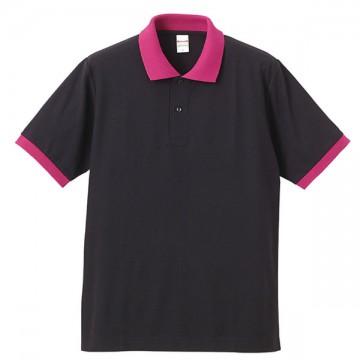 ドライカノコポロシャツ2065.ブラック/トロピカルピンク
