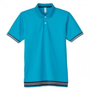 裾ラインリブポロシャツ26.ターコイズ