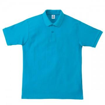 鹿の子ドライポロシャツ26.ターコイズ
