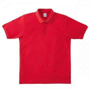 鹿の子ドライポロシャツ3.レッド