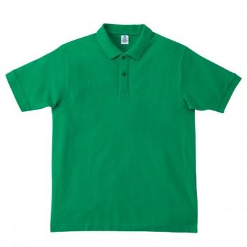 鹿の子ドライポロシャツ34.グリーン