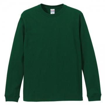 ロングスリーブTシャツ(袖口リブ仕様)497.アイビーグリーン