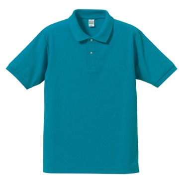 ドライカノコポロシャツ538.ターコイズブルー