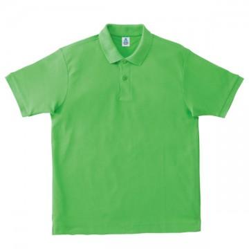鹿の子ドライポロシャツ54.ライムグリーン