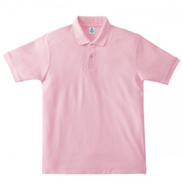 鹿の子ドライポロシャツ9.ライトピンク