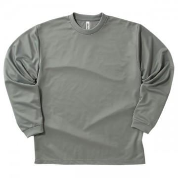 ドライロングスリーブTシャツ002.グレー