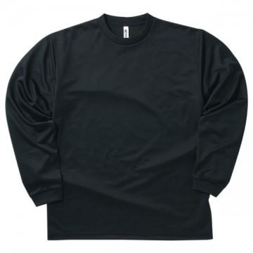 ドライロングスリーブTシャツ005.ブラック