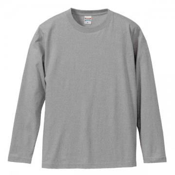ロングスリーブTシャツ006.ミックスグレー