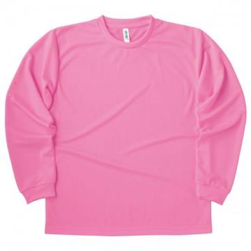 ドライロングスリーブTシャツ011.ピンク