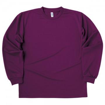 ドライロングスリーブTシャツ014.パープル