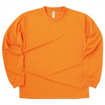 ドライロングスリーブTシャツ015.オレンジ