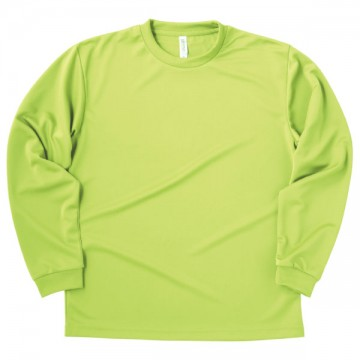 ドライロングスリーブTシャツ024.ライトグリーン
