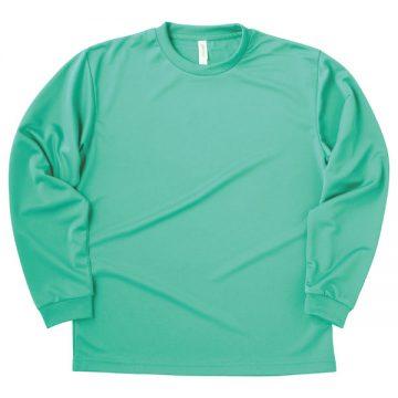 ドライロングスリーブTシャツ026.ミントグリーン