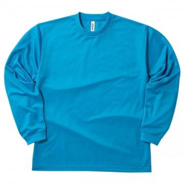 ドライロングスリーブTシャツ034.ターコイズ
