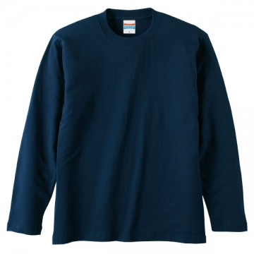 ロングスリーブTシャツ086.ネイビー