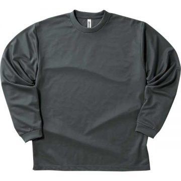 ドライロングスリーブTシャツ187.ダークグレー