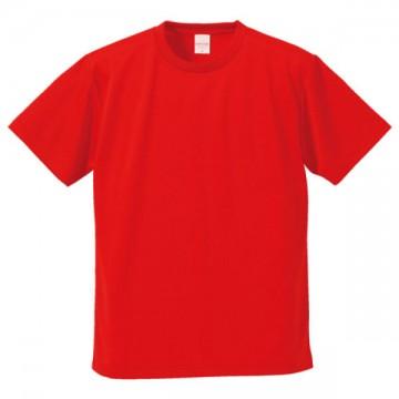 4.1オンスドライアスレチックTシャツ069.レッド