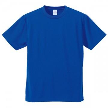 4.1オンスドライアスレチックTシャツ084.コバルトブルー