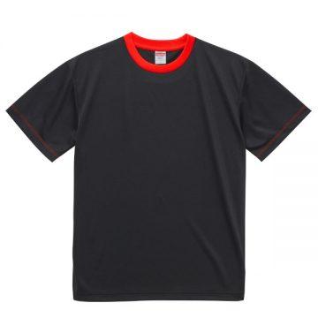 4.1オンスドライアスレチックTシャツ【在庫限り】2050.ブラック×レッド