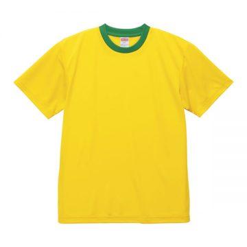 4.1オンスドライアスレチックTシャツ【在庫限り】6532.カナリアイエロー×グリーン